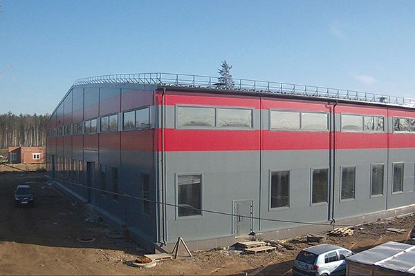 The new production facility is in the final stage of construction.